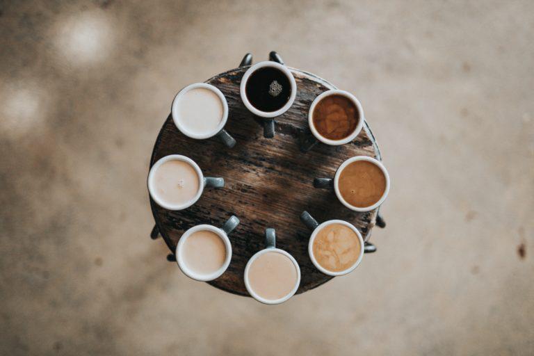 Kaffee in unterschiedlichen Sorten